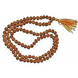 RUDRADIVINE Rudraksha Japa Beads Mala 6 mm Self Certified In 108+1 for Men Women Boys and Girls