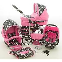 Milk Rock Baby Rock Baby Kinderwagen Komplettset (Autositz & Adapter, Regenschutz, Moskitonetz, Schwenkräder)