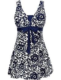 Ecupper Women's One-Piece Floral Plus Size Bathing Suit for Women