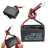 Winwill® 2x 450V 1.5uF CBB61 Terminal Ventilador de techo Motor Corriente rectángulo condensador