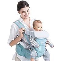 HUMTUS Portabebé Asiento de Cadera Cintura de Taburete 3 en 1 Multifunción Hipseat Seguro Hebilla Mochila de Honda Adjustable para 0-36 Meses Niños Infant Sling Backpack