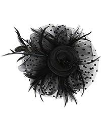 P Prettyia Accesorios para Cabello Decoración Nupcial Sombrero de Flor para  Mujer Fiesta 12bc75c8be58