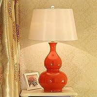 ZXC Moderna ceramica creativa di moda della zucca della decorazione Lampada da tavolo Camera Lampada da comodino in camera Esempio luce campione grande tavolo luce moda ( colore : Rosso