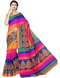 Alka Fashion Women's Art Silk Bhagalpuri Saree With Blouse Piec