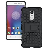 SnS Rugged, Armor, Defender, Hybrid Back Case Cover with Kickstand for Gionee S6s