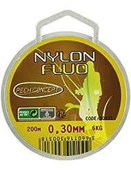 PECH'CONCEPT 30031 Nylon de Pêche Mixte Adulte, Jaune Fluo