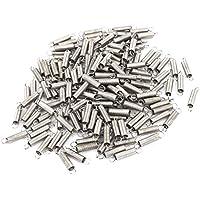 sourcingmap® 160Stk 12,5mm x 4mm x 0,25mm Edelstahl 2 Haken Zugfeder grau