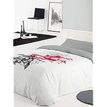 Reig Marti Funda Nórdica Plash Blanco / Gris Cama 180 (270 x 280 cm)