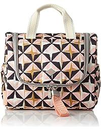 Oilily - Ruffles Geometrical Washbag Mhz 1, Organizadores de bolso Mujer, Rosa (Rose), 12x21x26 cm (B x H T)
