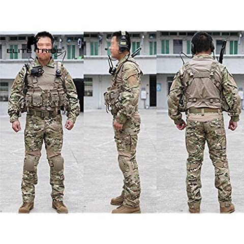 los hombres de caza paintball airsoft militar uniforme de combate gen2 táctica uniforme Multicam MC (M)