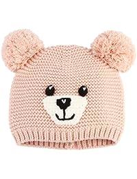 2f2aa0251213 GEMVIE Chapeau Tricot Enfant Bébé Bonnet Unisexe Cartoon Mignon Chaud  Automne Hiver Ours Beanie Crochet
