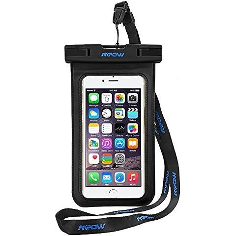 Mpow Brazalete Funda Impermeable Flotante del Bolso Seco con Brazalete para iPhone 6 plus, 6s, 5s, Funda Ecológico PVC y ABS Construcción de la Bolsa y IPX8 Certificación