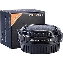FD Lenti per Canon EOS Camera Body, K&F Concept Adattatore di obiettivo per Canon 1D, 1DS, Mark II, III, IV, 1DX, 1DC, 5D, 5D Mark II, II 7D, 40D, 50D, 60D, 70D, Digital Rebel T5i, T4i, T3i, T3, C300, C500
