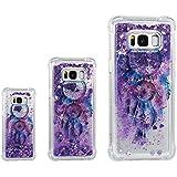 Phcases Funda para Samsung Galaxy S8+/S8 Plus, 3D Bling Brillante Glitter Carcasa Silicona Gel TPU Flexible Cover Crystal Clear Case Transparente Protectora Blanda Caso Caja Cubierta(Atrapasueños).