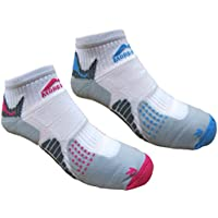 More Mile Womens San Diego Cushioned Running Socks (2 Pair Pack)
