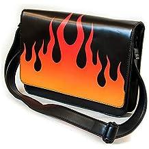 IRON FIST Ladies Handbag Gothic Hand Bag FIRE SIGN Flames PU