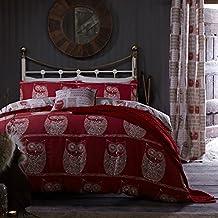 Catherine Lansfield CL - A Wise Old Owl - Juego de funda nórdica para cama de 90 cm
