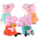 Party Propz Plush Peppa Pig Toy (Multicolour)-Set of 4
