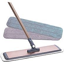 Mop professionale in microfibra - Manico in alluminio, pannello in alluminio aeronautico - 3 pastiglie premium Mop