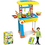 Smiles Creation™ Pull Along Trolley Bag With Kitchen Set Toys For Kids