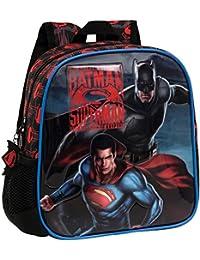 Warner 25820A1 Superman-Batman Mochila Infantil, 5.75 Litros, Color Gris