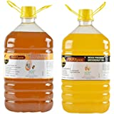 Ikkiyam Combo Of Wood Pressed (Cold Press) Edible Groundnut Oil And Sesame Oil, 10 Liters