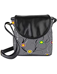 Snoogg Colorful Circles Grey Womens Sling Bag Small Size Tote Bag