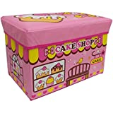 Baybee Premium Cake Shop Collapsible Toy Storage Organizer | Toy Box Folding Storage Ottoman For Kids Bedroom | Perfect Size Toy Chest For Books, Kids Toys, Baby Toys, Baby Clothes (Pink)