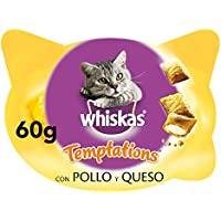 Whiskas Premios temptations para Gatos de 60g sabor pollo (Pack de 8)