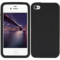 kwmobile Funda para Apple iPhone 4/4S - Case para móvil en TPU silicona - Cover trasero en negro