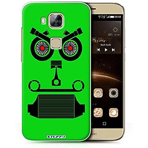 STUFF4 teléfono/cubierta/piel/Caso HUAG8/pieza del coche caras colección Turbo/Green