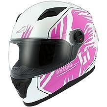 Astone Helmets gt2g-predator-wpm casco Moto Integral GT, color blanco/rosa, talla M