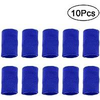 HEALIFTY Finger Schweißband Stretchy Finger Schutzhülle Arthritis Unterstützung Sporthilfe (Blau) 10 Stück preisvergleich bei billige-tabletten.eu