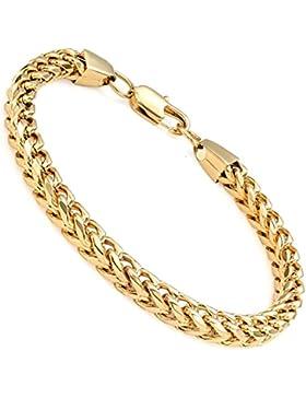 Sailimue Edelstahl 6 mm Curb Kette Armbänder für Herren Damen Armband 22-23CM