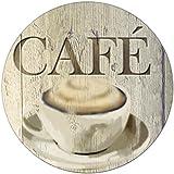 Wenko 53910100 Dessous de plat Croix Café en Verre Multicolore 20,3 x 22,7 x 0,8 cm