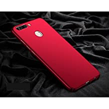 Kaira [Full Coverage] All Sides Protection 4 Cut 360 Degree Sleek Rubberised Matte Hard Case Back Cover For Huawei Honor 9 Lite (Maroon Red)