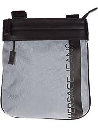 Versace Jeans borsa uomo a tracolla borsello originale macrologo argento ba258eb4447