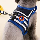 Pets Empire Pet Stripes Vest Mesh Harness And Lead Leash Set For Small Dogs And Cats 1 Set Color May Vary Size -Large