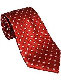 Red Silk Tie with White Polk Dot
