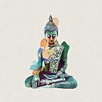 """Summer Thornton """"Jade Buddha"""" Canvas Print, Cotton, Multi-Colour, 3.20 x 40.00 x 40.00 cm"""