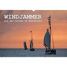 Windjammer auf der Ostsee im Abendlicht (Wandkalender 2018 DIN A3 quer): Windjammer auf der Ostsee im Abendlicht während der Hanse Sail in Rostock (Monatskalender, 14 Seiten ) (CALVENDO Natur)