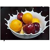 Plato de fruta redonda de silicona Plato de fruta ecológico duradero Placa de fruta de sala de estar , 1