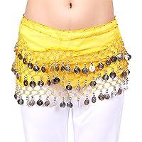 Moderno pañuelo de gasa de Hoter, para colocar en la cadera, con monedas plateadas colgando para bailar la danza del vientre
