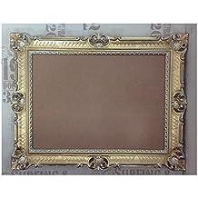 Rokoko Barock Bilderrahmen Fotorahmen Rechteckig Rahmen Silber Nostalgie Antik