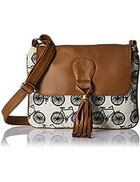 Kanvas Katha Women Sling Bag (Black and White)(KKSNJQ015)