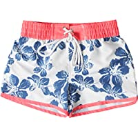 Snapper rock à motif hibiscus-combinaison anti-uV pour fille Multicolore Blanc
