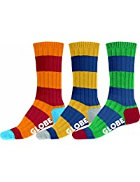 Globe Fat Stripe Boots Deluxe 3Pk Socks assorted / motifs Taille Uni
