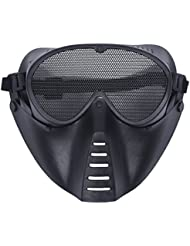 TOOGOO(R) MASQUE DE PROTECTION NOIR POUR AIRSOFT PAINTBALL CHASSE