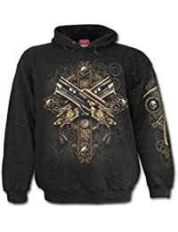 Spiral Steampunk Skeleton Sweat à capuche noir