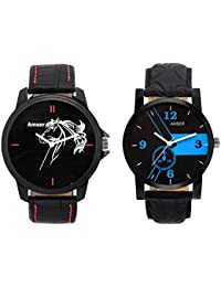 Amser Set Of Two Stylish Watches For Boys And Men